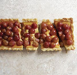Custard Tart with Wine-Poached Grapes | Pies & Tarts (and Crisps ...