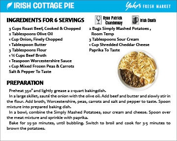 Irish Cottage Pie | Cozy Food | Pinterest