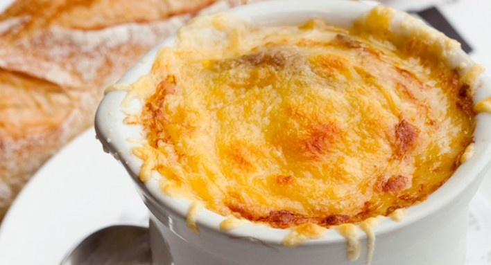French Onion Soup Gratinee, Mon Ami Gabi Las Vegas. Could be my most ...