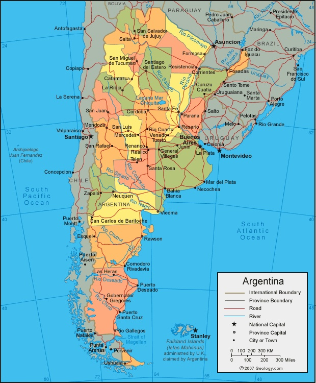Argentina Major Landforms Images Reverse Search - Argentina landforms map