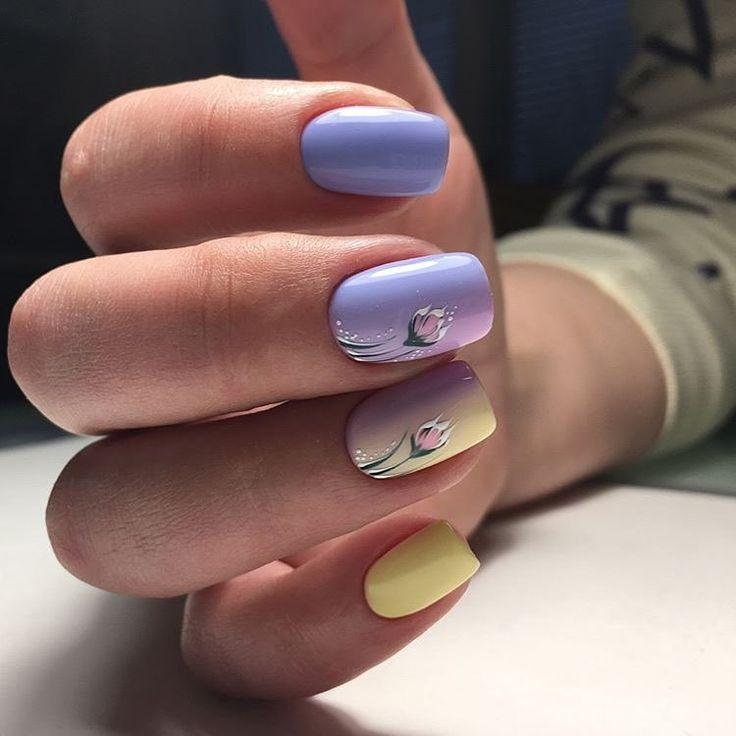 Шеллак На Очень Короткие Ногти Фото
