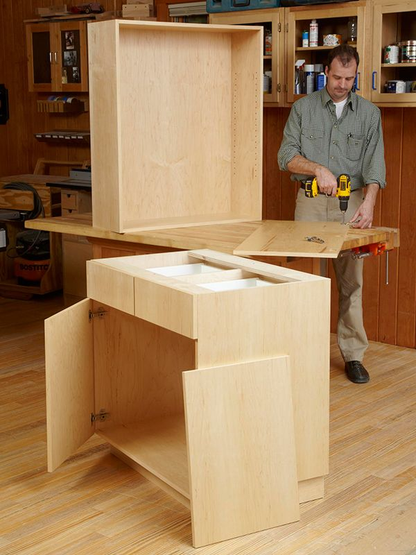 How to build frameless cabinets woodworking cabinets for Build frameless kitchen cabinets
