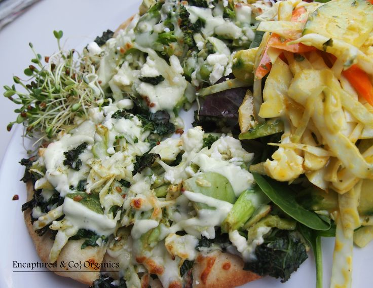 Green Veggie Pizza! Basil Marinated Green Veggies including: Broccoli ...