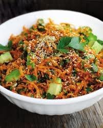 My favorite carrot/avocado salad recipe.