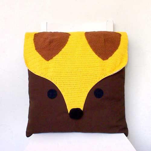 LARGE CUSHION - The Fantastic Fox Crochet Cushion Ask a Question £42 ...