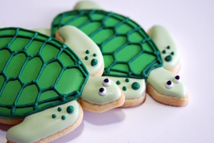 Sea Turtle cookies   One Tough Cookie   Pinterest