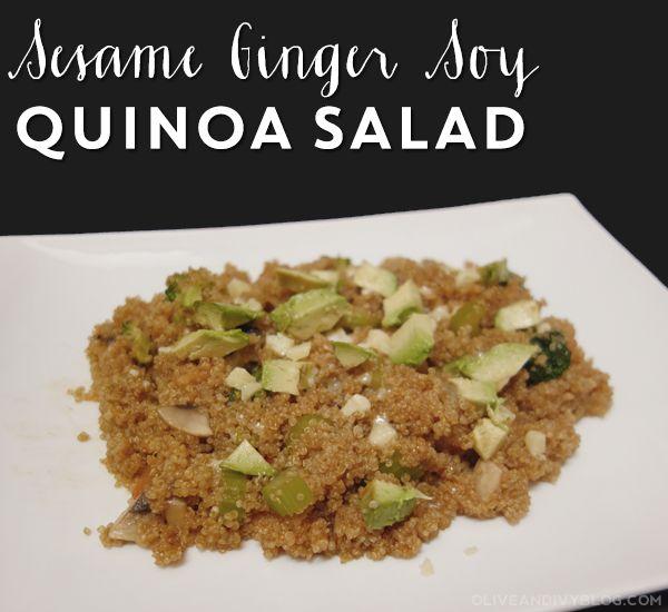 ... quinoa salad recipe yummly quinoa salad sesame mandarin quinoa salad