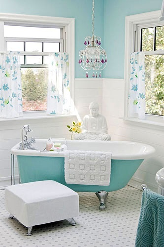 Teal Bathroom Dwell Pinterest