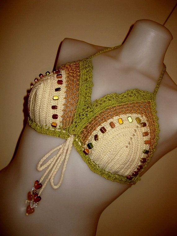 Crochet Bathing Suit : Size 12 Crochet Bikini Bathing Suit Monokini Tankini Top Swimsuit ...