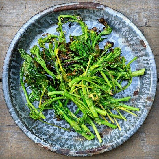 Grilled Broccoli Rabe (Rapini). | Recipes to Cook | Pinterest
