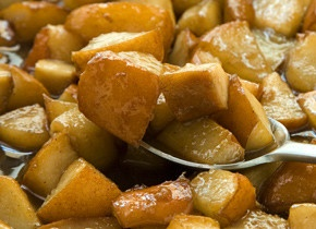 caramelized pears. sliced the pears, left out the cloves, served with ...
