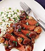 Steak with Burgundy Sauce | Recipe