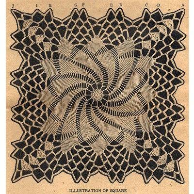 Pinwheel Doily - 13 inch Diam.