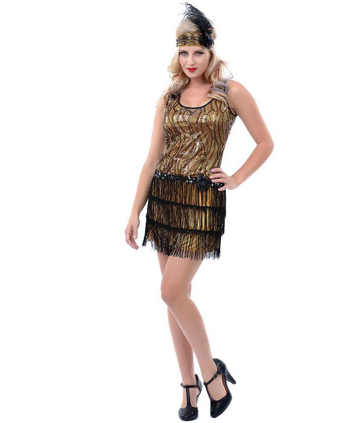 ... Flapper Costume - Unique Vintage - Prom dresses, retro dresses, retro