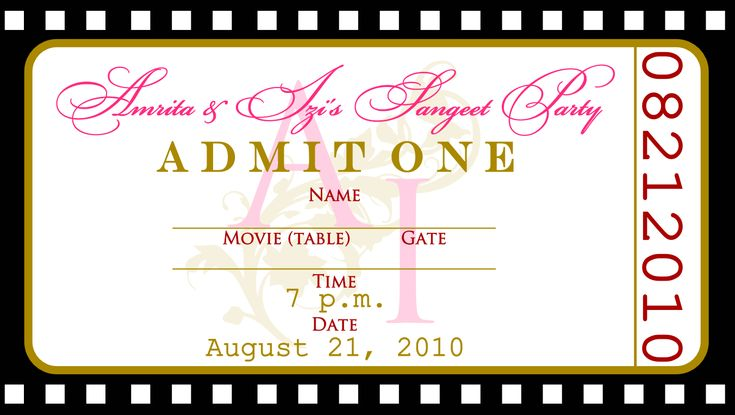party ticket template free – Party Ticket Template Free