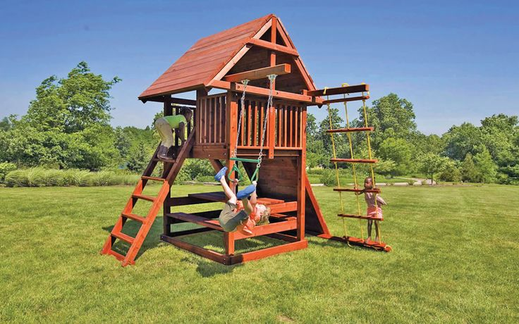 small swing sets for your backyard kids in the landscape