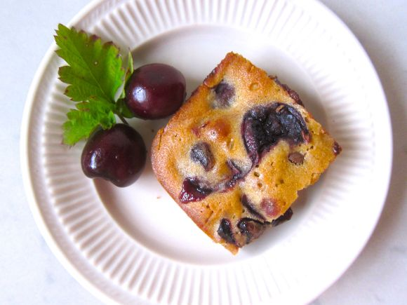 Chocolate chip and bing cherry blondie   Sweets   Pinterest
