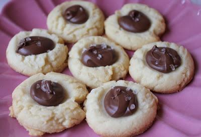 Nutella Thumbprint Cookies with Sea Salt | Sweet Tooth | Pinterest