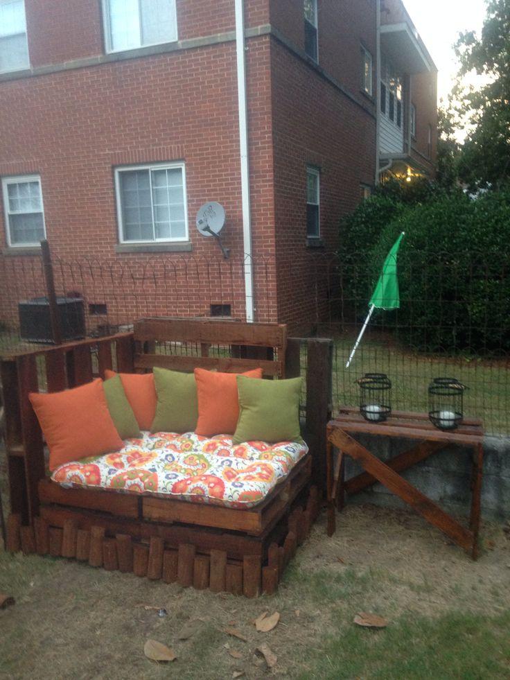 Outdoor pallet creation   Backyard   Pinterest