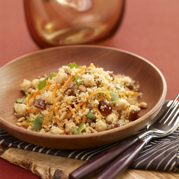 Couscous With Chickpeas & Pistachios Recipe — Dishmaps