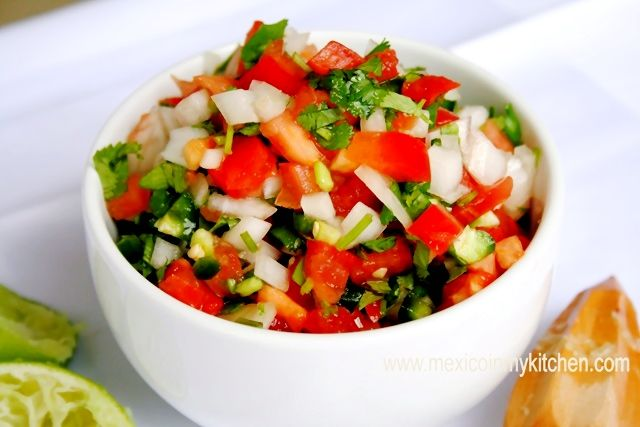 """Salsa Mexicana """"Pico de Gallo"""" /Como hacer salsa """"Pico de Gallo ..."""
