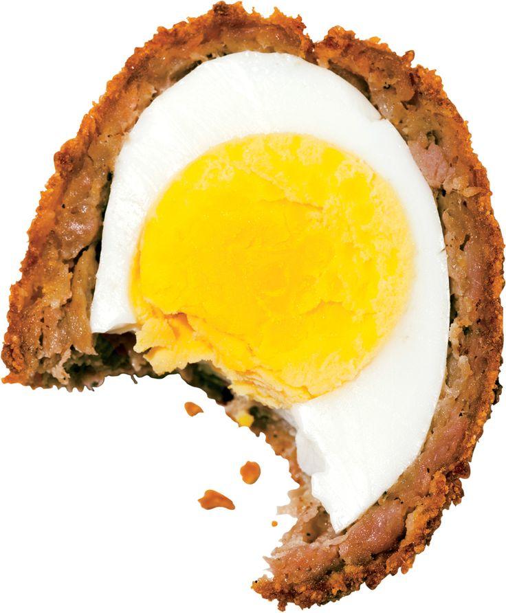 Breakfast Sausage And Cornflake Scotch Eggs Recipe — Dishmaps
