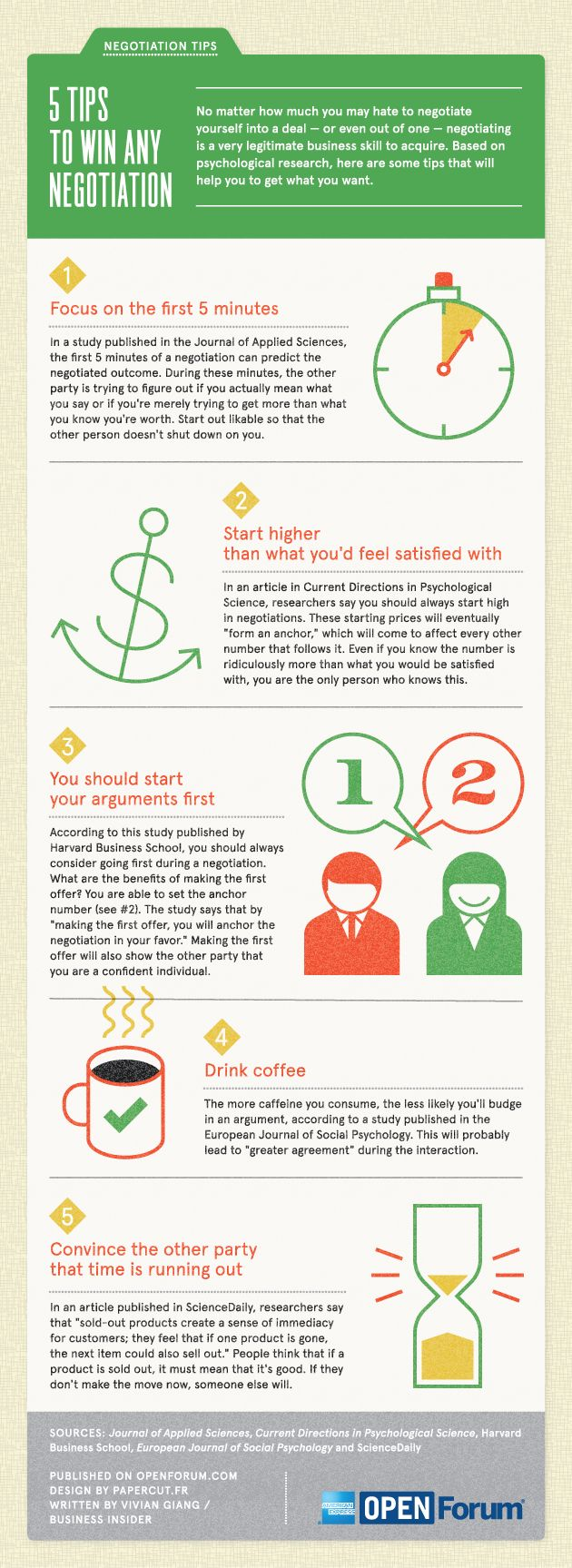 5 tips to win any negociation #infographic