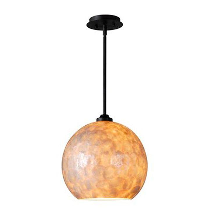 capiz shell globe pendant light large. Black Bedroom Furniture Sets. Home Design Ideas
