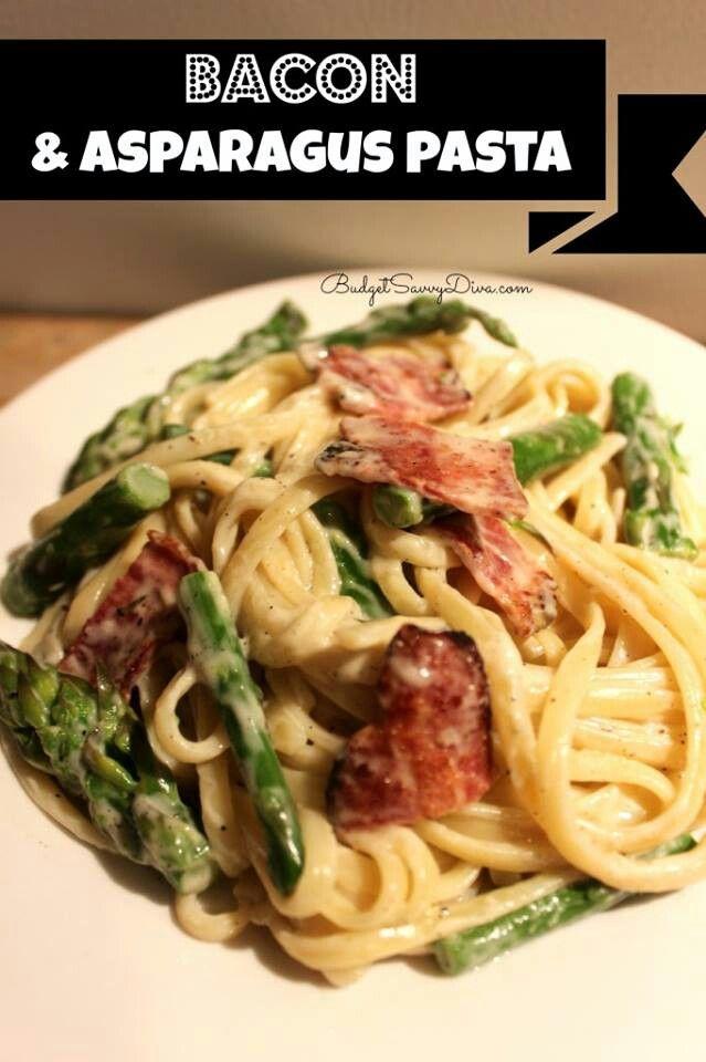 Bacon and asparagus pasta | ITALIANISIMO | Pinterest