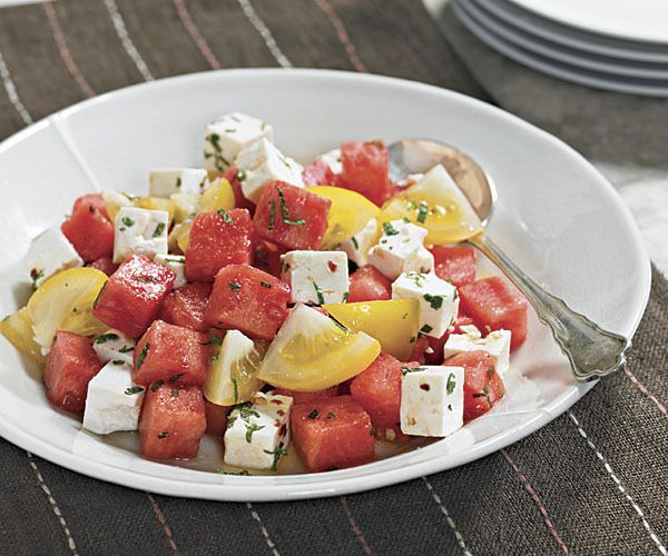 Watermelon, Heirloom Tomato and Feta Salad by Fine Cooking