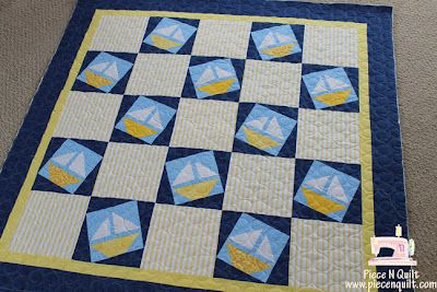 My Fabric Obsession: A nautical baby quilt