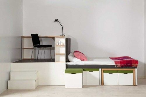 All-In-One Furniture Set For Small Spaces | Shelterness--Great multifunctional pieces for your tiny!!