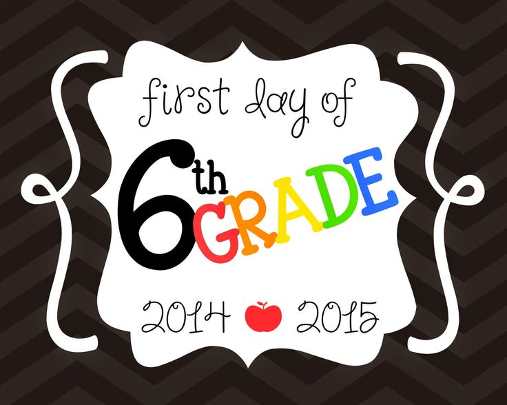 FREE First Day of School Printables - First Day of 6th grade