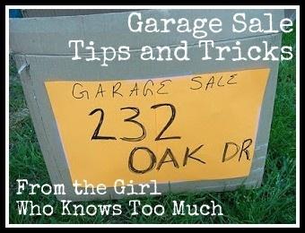 Garage sale tips   My Style   Pinterest
