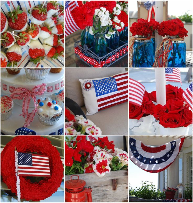 fourth of july deco wreaths