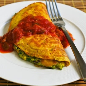 Southwestern Omelet with Easy Guacamole and Salsa | Recipe