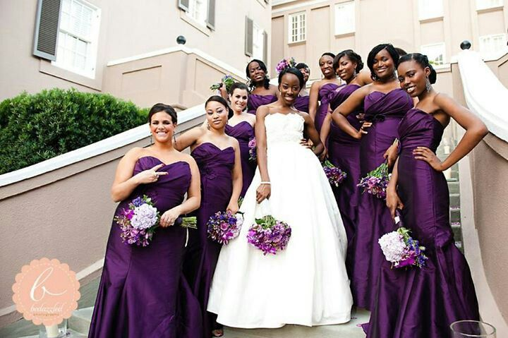 Deep Purple Wedding Dresses : Deep purple bridesmaid dresses sept my wedding