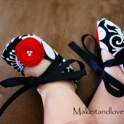 Embellished baby shoes