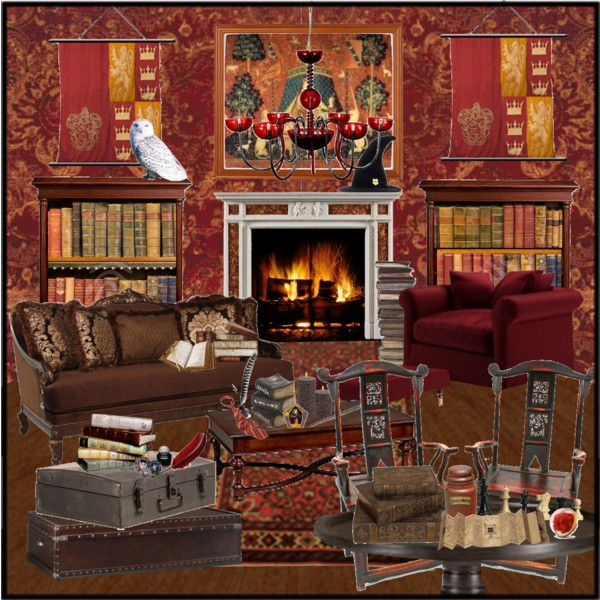 Gryffindor common room decor for Room decor harry potter
