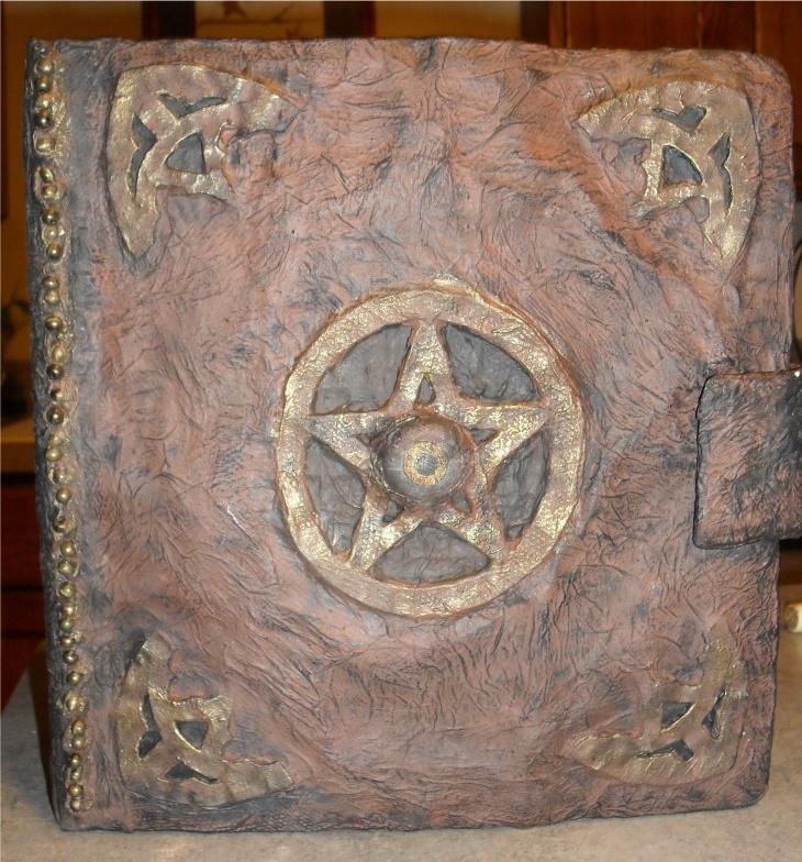 paper mache spell book