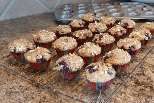 To Die For Blueberry Muffins {with a healthy twist}