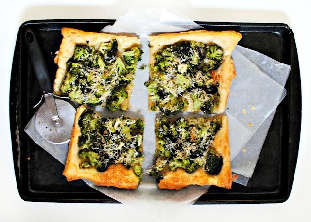 Broccoli Pecorino Tart -- Around $4 to make