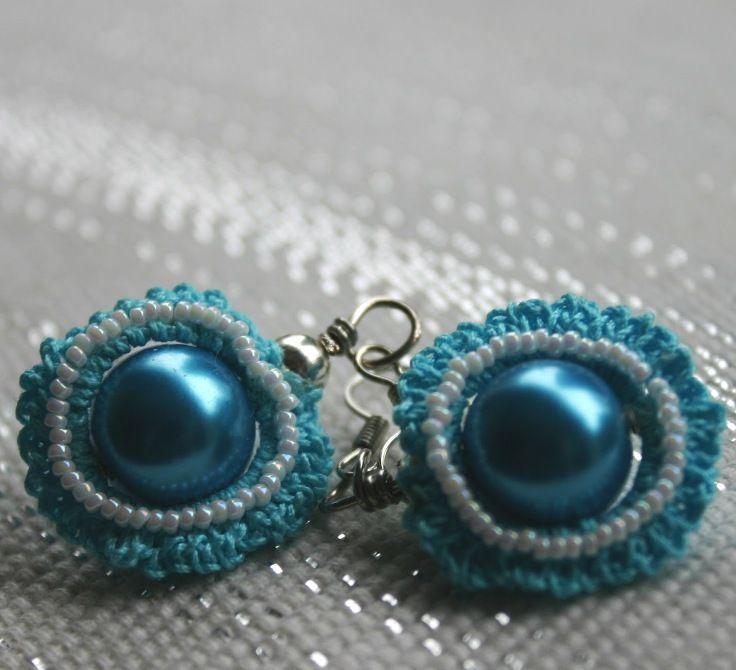 Irish Crochet Earrings tutorial Crochet jewels Pinterest