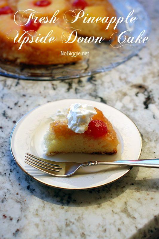 Fresh Pineapple Upside Down Cake | {Cakes} | Pinterest