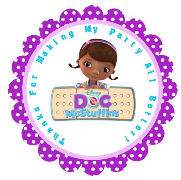 It is a photo of Exhilarating Free Doc Mcstuffins Party Printables