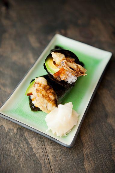 Porcini Mushroom Tempura Sushi Handroll | tempura | Pinterest