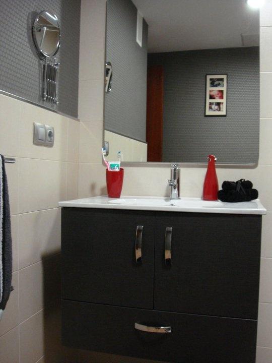 Decoracion Baño Gris:Baño beige y gris