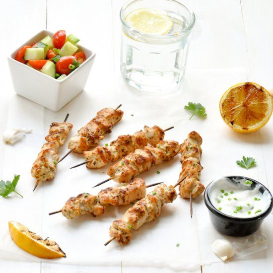 kebabs with romesco sauce yogurt marinated chicken kebabs with romesco ...
