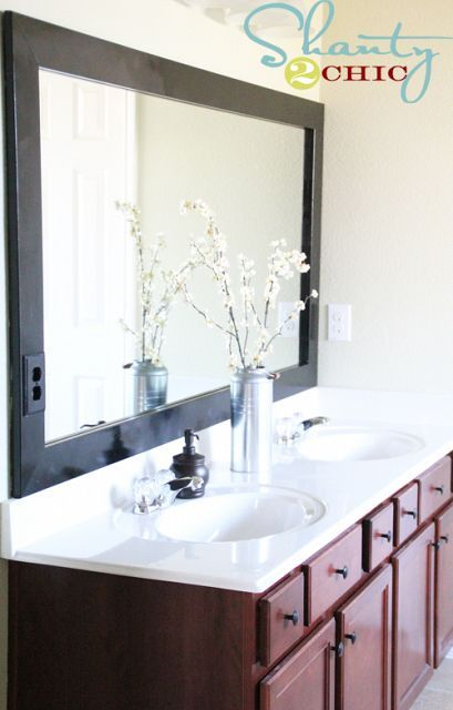 DIY Bathroom Mirror Frame For The Home Pinterest
