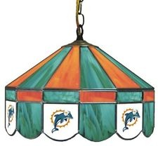 Miami Dolphins Stained Glass Fixture